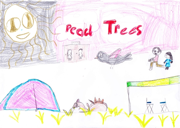 K's Peach Trees Drawing
