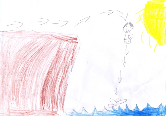 E's drawing of Rocky Hole