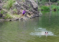 taking the plunge cedar grove waterhole